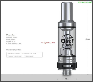 Clearomizer GS Turbo 1,8 ml pro Trim Grip